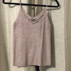 Knitted AEO tank top